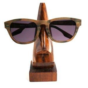 Eyebuydirect Brown Wood Oval Sunglasses Frames